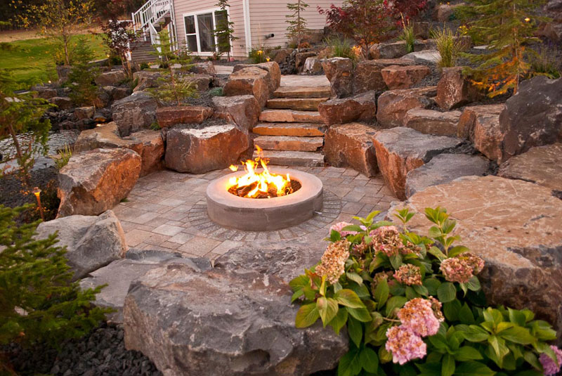 Spokane Amp Coeur D Alene Backyard Fire Pit Design Amp Construction