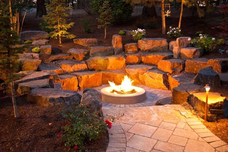 Spokane Amp Coeur D Alene Backyard Fire Pit Design