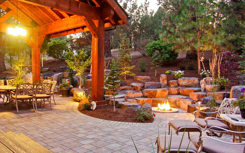 Covered Patio Pavilion Design Amp Construction In Spokane