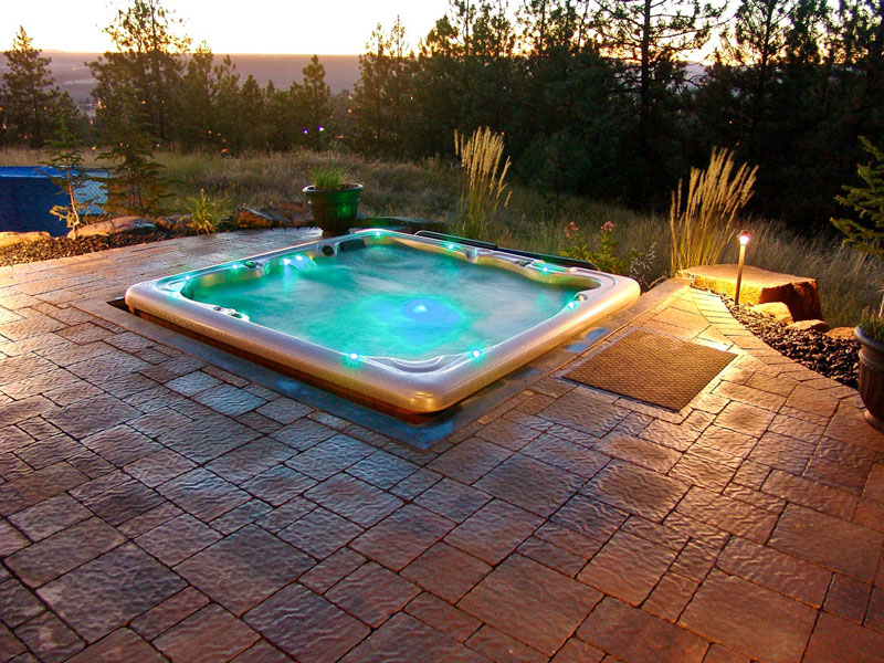 Backyard Hot Tub Ideas : Pics Photos  Hot Tub Patio Design Backyard Fire Pit And Hot Tub Ideas
