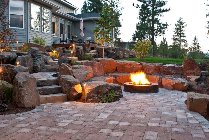 Spokane Amp Coeur D Alene Backyard Fire Pit Design