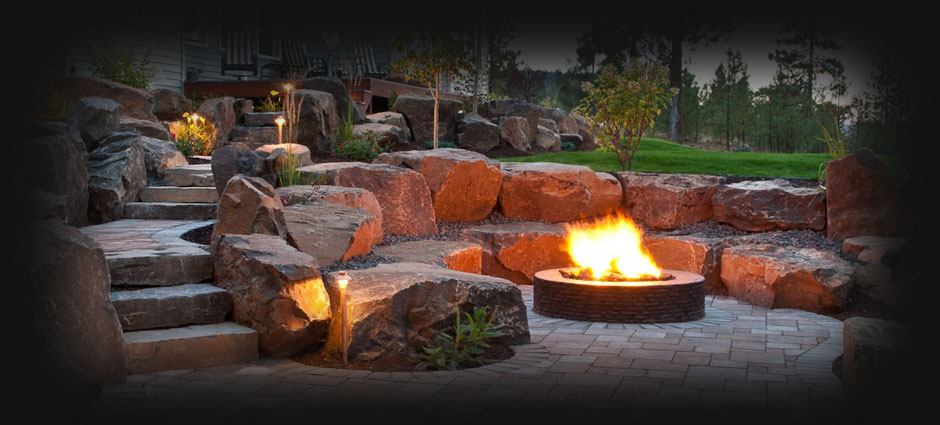 Spokane Coeur dAlene Backyard Fire Pit Design