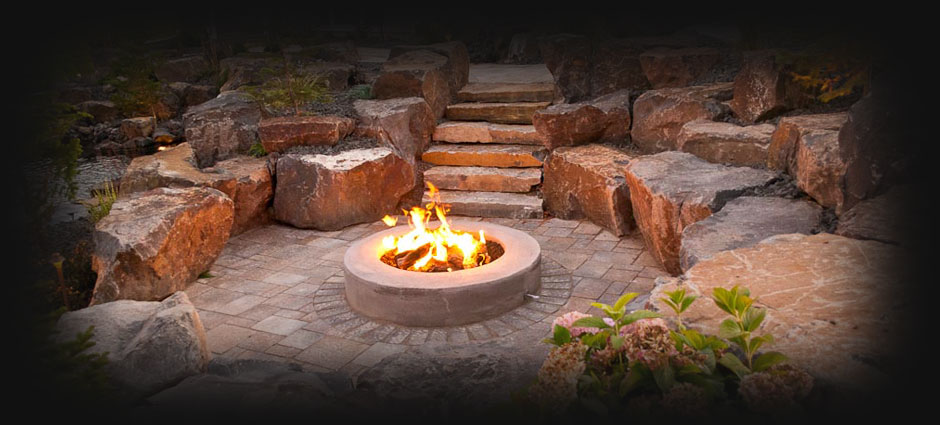 Fire Pit by Legacy Landscapes, LLC