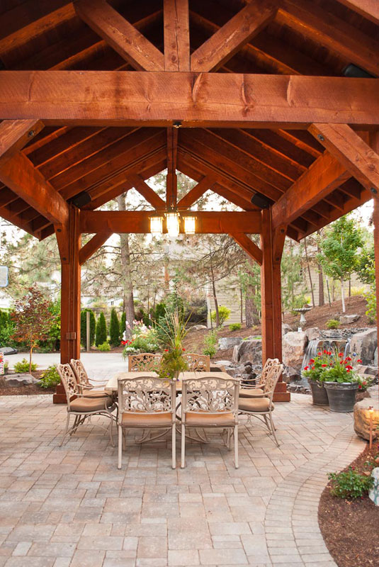 Pavilion Covered Patio Gallery Outdoor Living Environment And Landscape Design